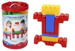 Конструктор Jumbo Magic Blocks 40 деталей в ведре (3216plsn)