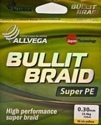 Рыболовная леска ALLVEGA Bullit Braid 135м 0,30 (15074)