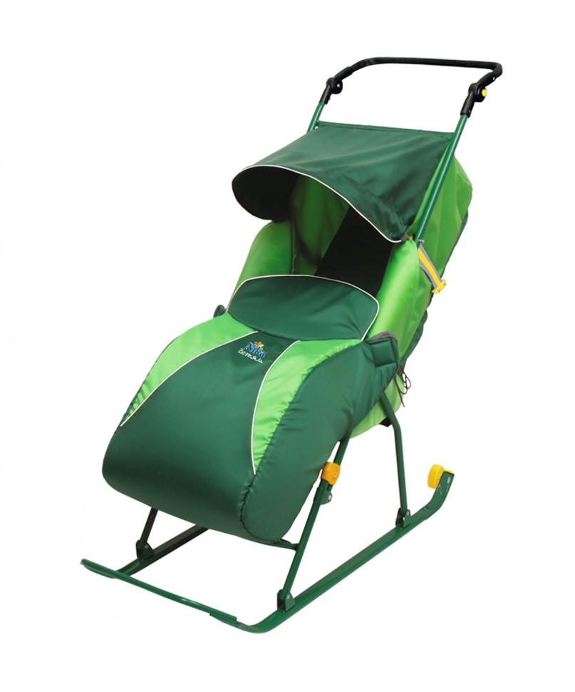 Санки коляска ника зеленые