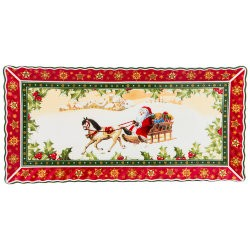 "Блюдо ""christmas collection"" 36,5*18 см. высота=2 см. Lefard (586-435)"