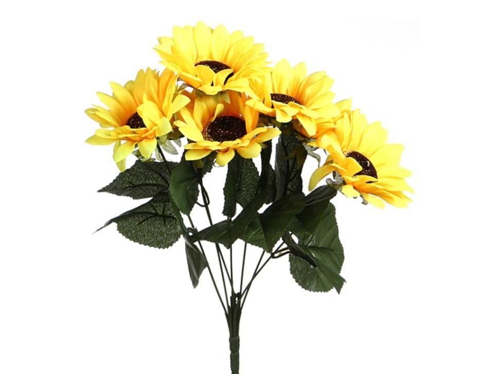 Купить цветы искусственные подсолнухи киев